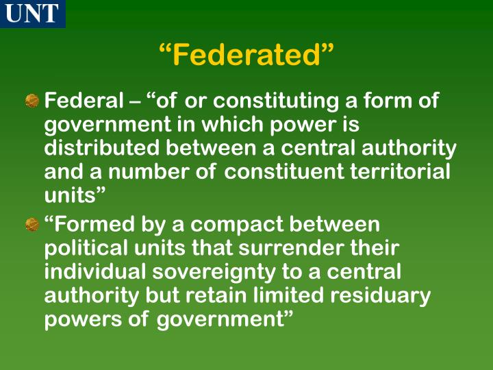 """""""Federated"""""""