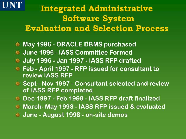 Integrated Administrative