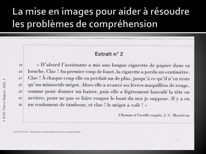 La mise en images pour aider à résoudre les problèmes de compréhension