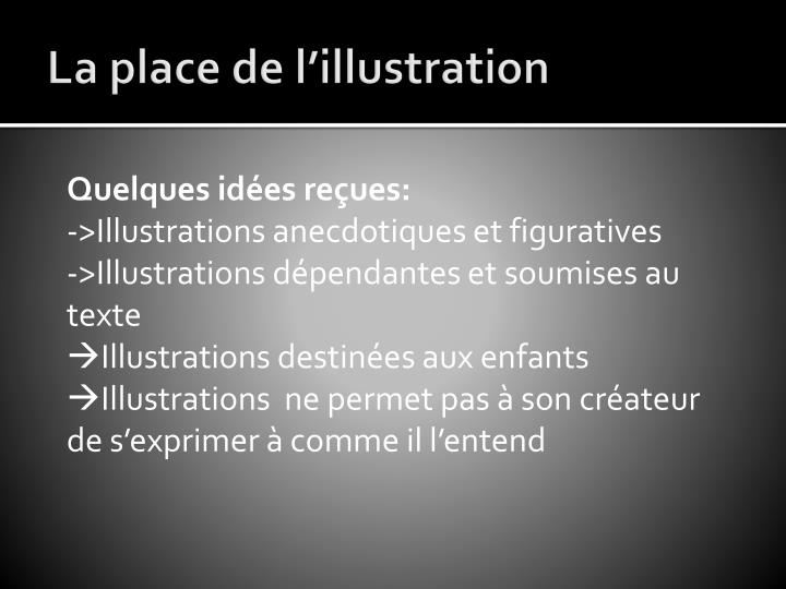 La place de l'illustration