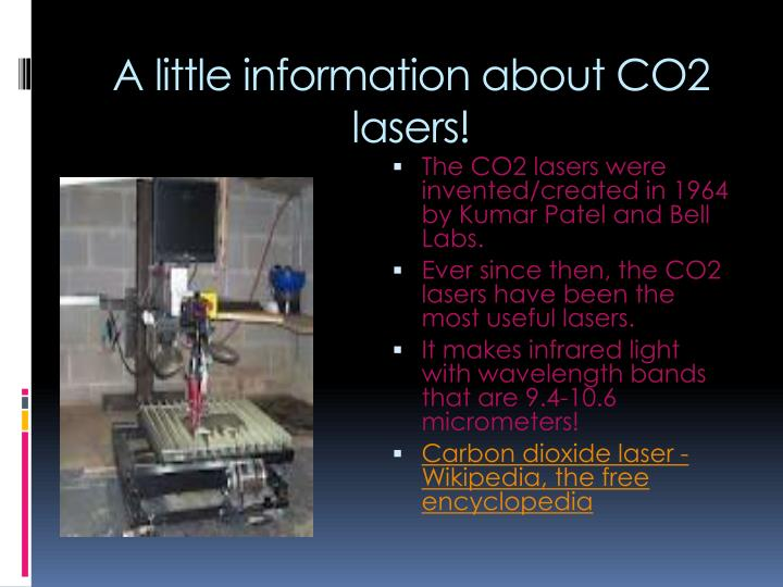 A little information about co2 lasers
