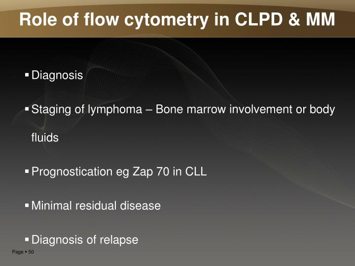 Role of flow cytometry in CLPD & MM