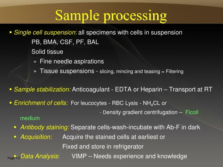 Sample processing