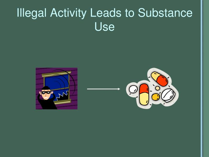 Illegal Activity Leads to Substance Use