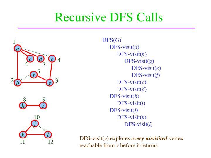 Recursive DFS Calls