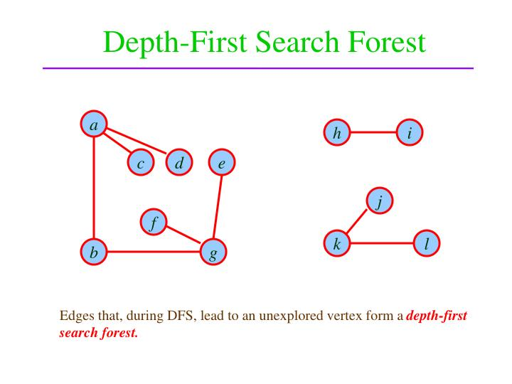 Depth-First Search Forest