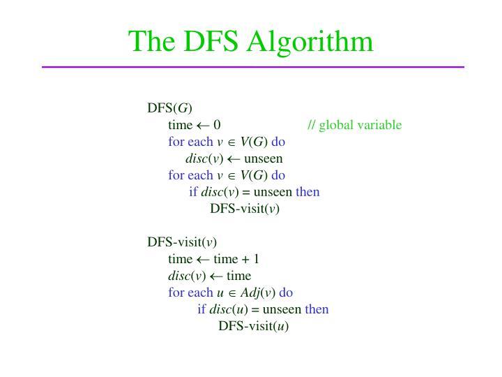 The DFS Algorithm