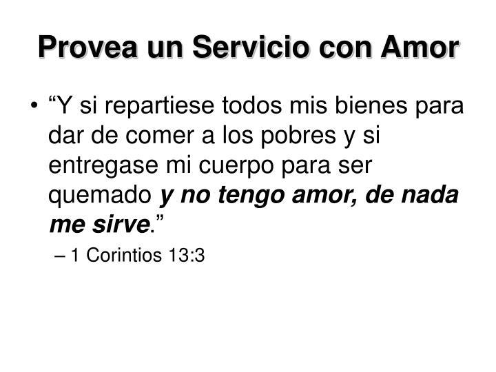 Provea un Servicio con Amor