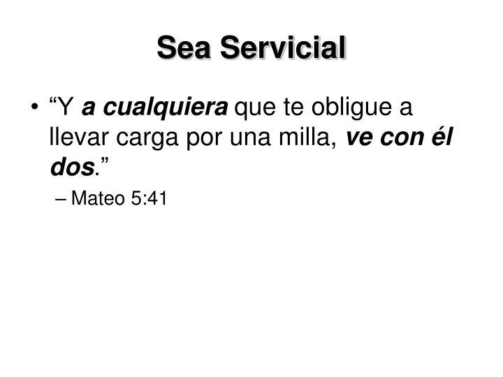 Sea Servicial