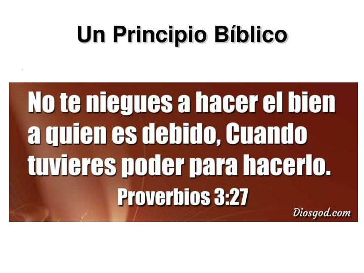 Un Principio Bíblico