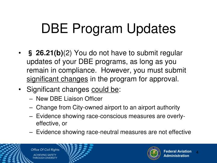 DBE Program Updates
