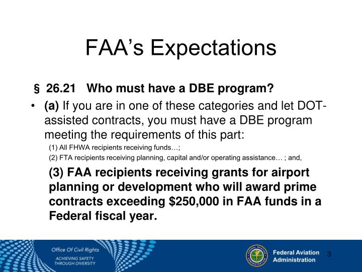 FAA's Expectations