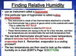 finding relative humidity