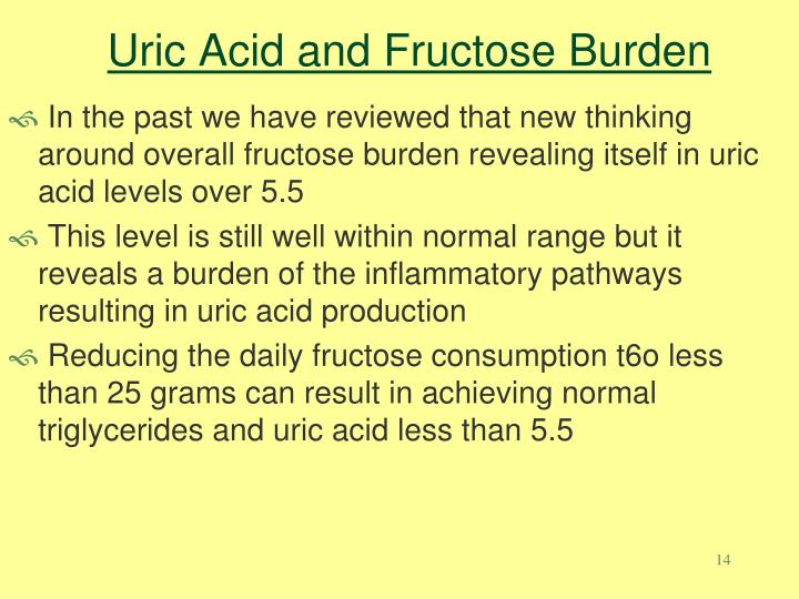 Uric Acid and Fructose Burden