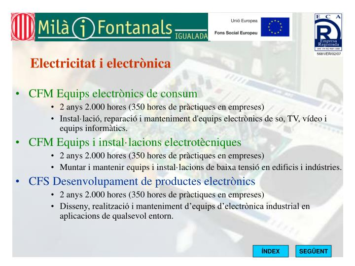 Electricitat i electrònica