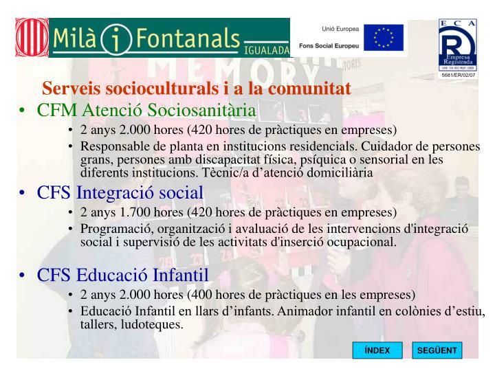 Serveis socioculturals i a la comunitat