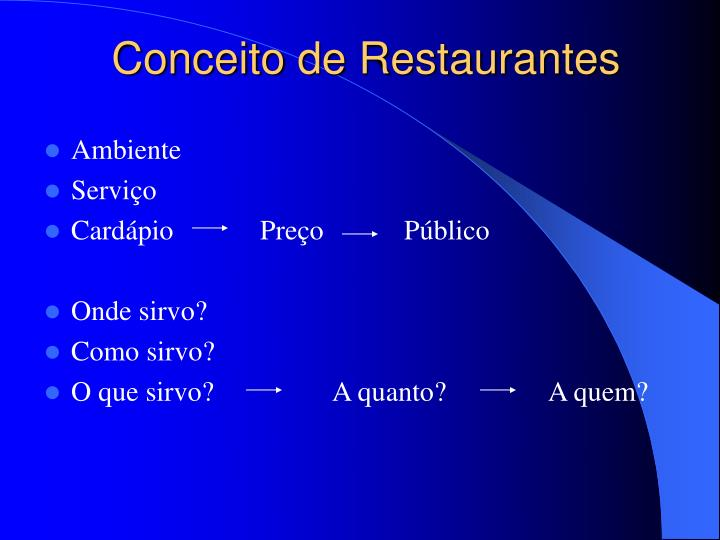 Conceito de Restaurantes