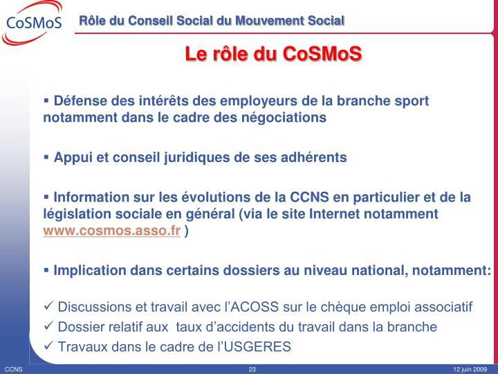 Rôle du Conseil Social du Mouvement Social
