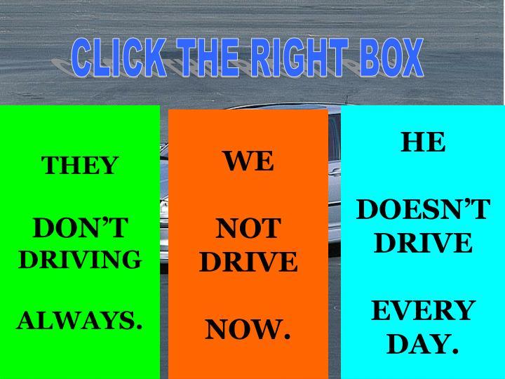 CLICK THE RIGHT BOX