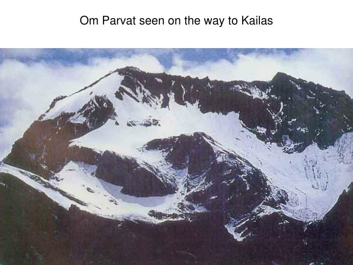 Om Parvat seen on the way to Kailas