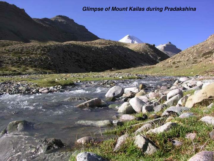 Glimpse of Mount Kailas during Pradakshina