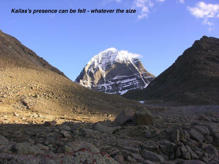 Kailas's presence can be felt - whatever the size