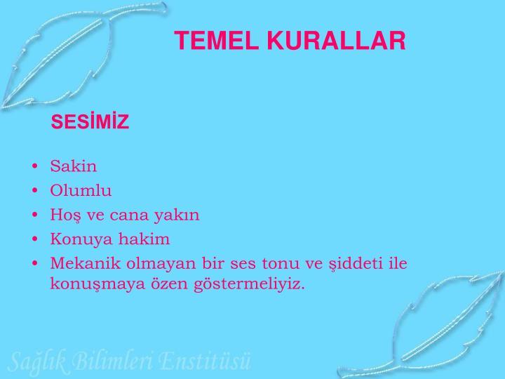 TEMEL KURALLAR