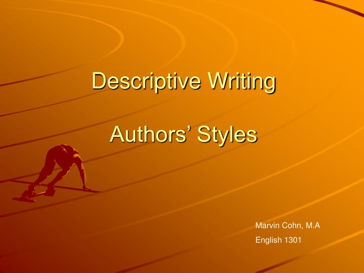 descriptive style of writing 155 words to describe an author's tone what is tone tone refers to an author's use of words and writing style to convey his or her attitude towards a topic.