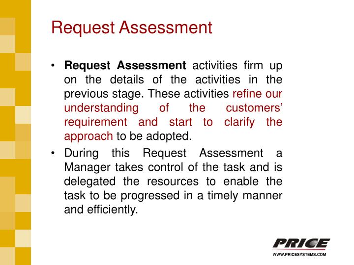 Request Assessment