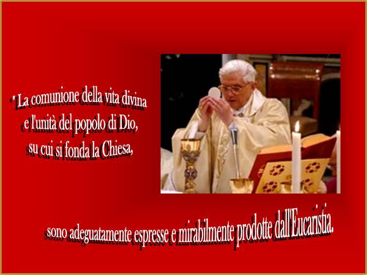 """"""" La comunione della vita divina"""