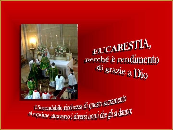 EUCARESTIA,