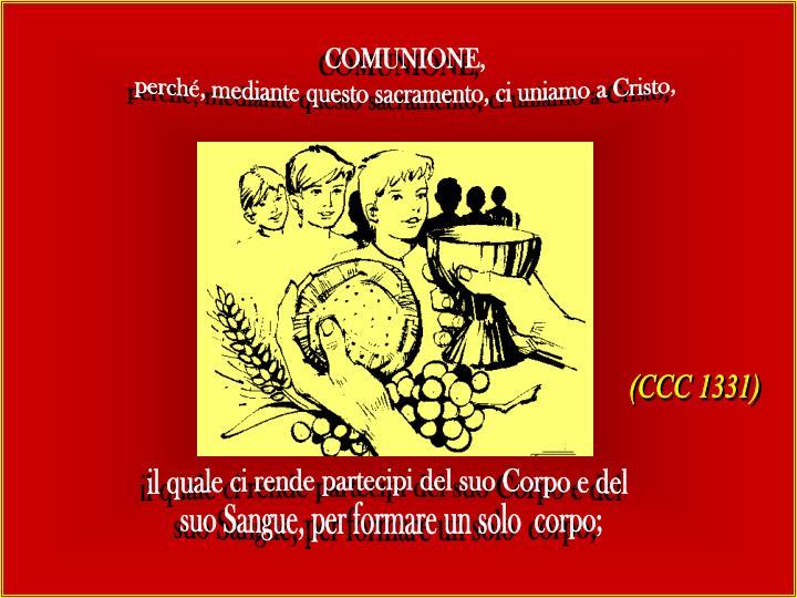 COMUNIONE,