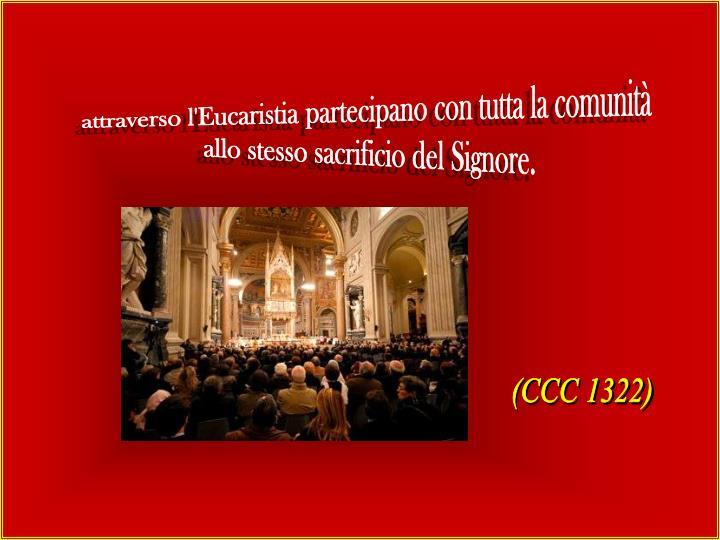 attraverso l'Eucaristia partecipano con tutta la comunità