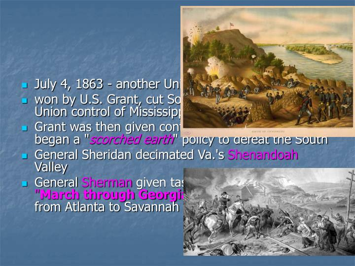 July 4, 1863 - another Union victory -