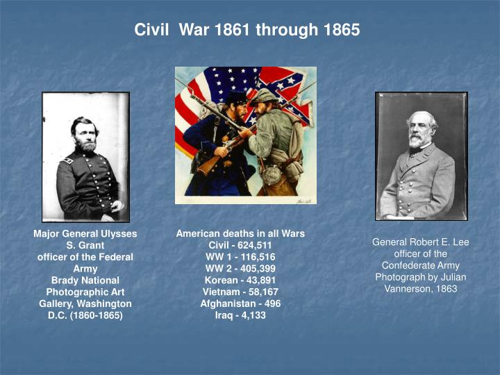 Civil  War 1861 through 1865