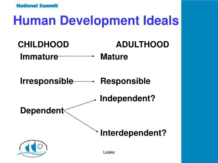 Human Development Ideals