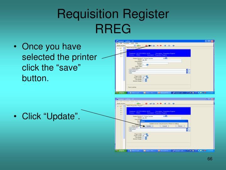 Requisition Register