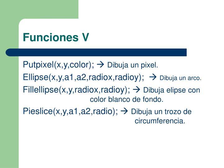 Funciones V