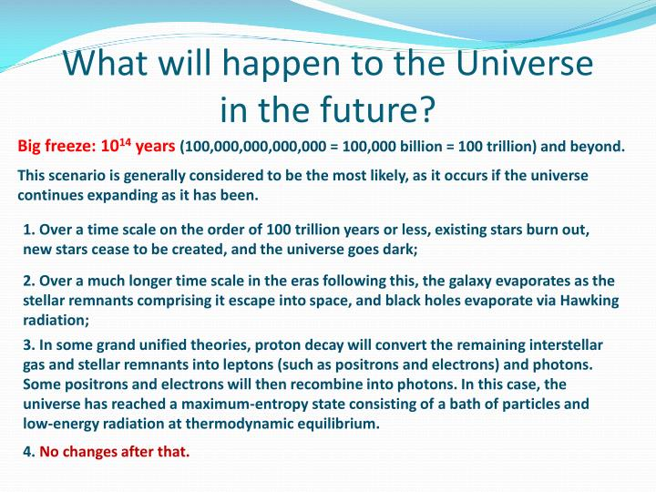 What will happen to the Universe