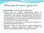 what laws of nature govern it