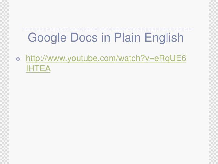 Google Docs in Plain English