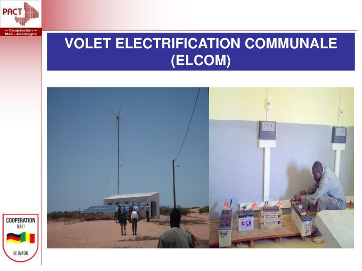 VOLET ELECTRIFICATION COMMUNALE