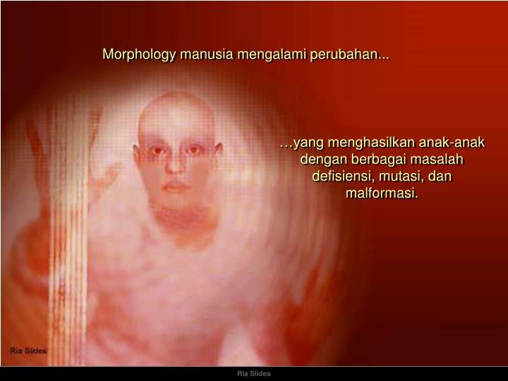 Morphology manusia mengalami perubahan...