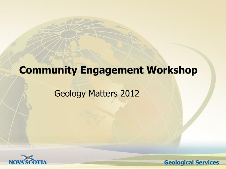 Community engagement workshop