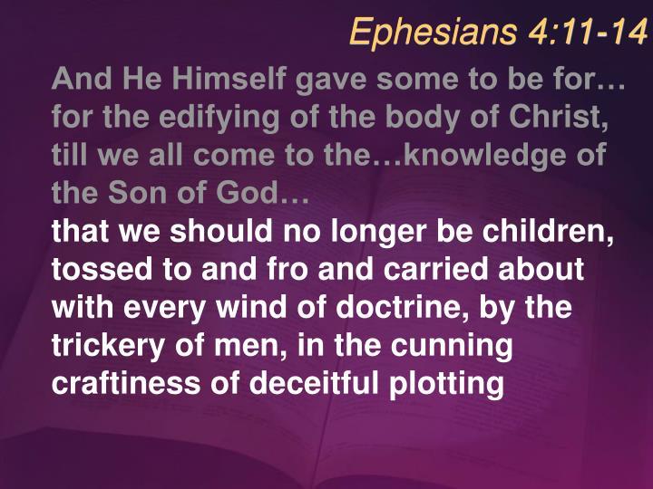 Ephesians 4:11-14