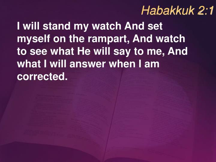 Habakkuk 2:1
