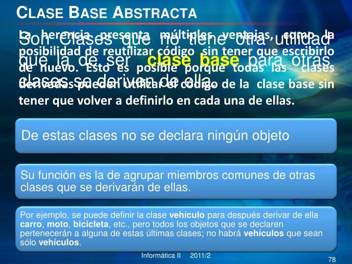 Clase Base Abstracta