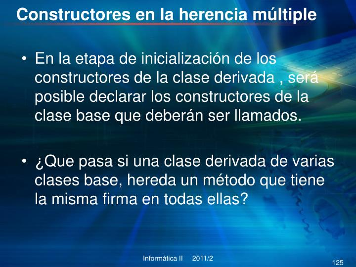 Constructores en la herencia múltiple