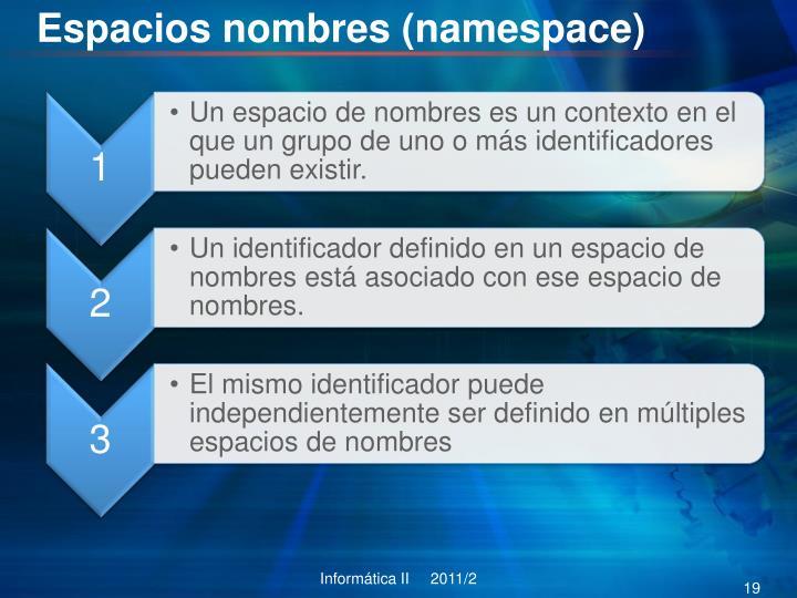 Espacios nombres (