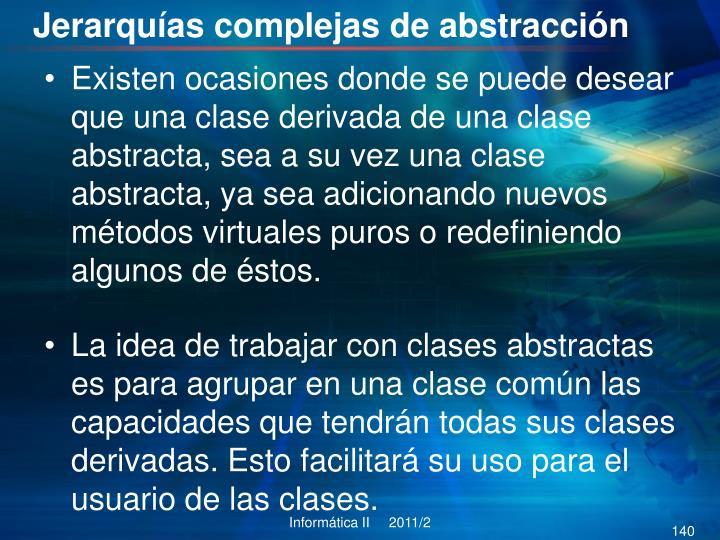 Jerarquías complejas de abstracción